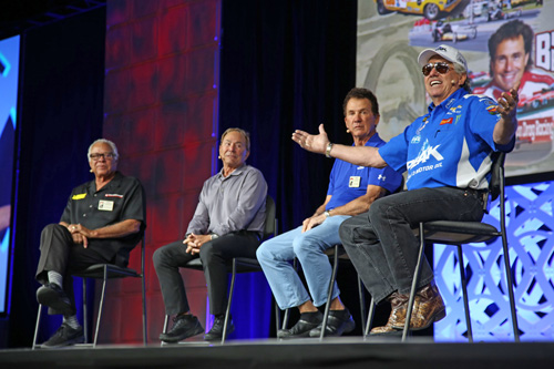 "The 2018 NHRA Breakfast in the Westgate Paradise Events Center showcased celebrity drivers who have been on the road to ""Fifty Years of the NHRA Gatornationals."" The event featured drag racing legends Kenny Bernstein, Joe Amato, Don ""The Snake"" Prudhomme as well as current NHRA driver John Force."